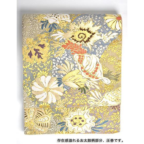 名門「となみ」謹製 特選西陣袋帯「宝相華紋」黒地|kimonotanaka|03