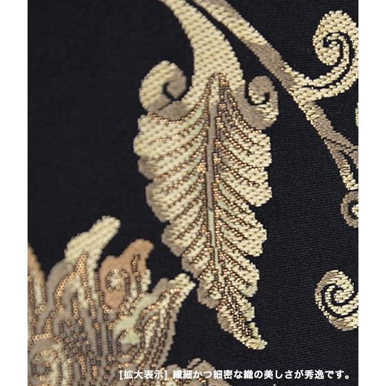 名門「となみ」謹製 特選西陣袋帯「宝相華紋」黒地|kimonotanaka|04