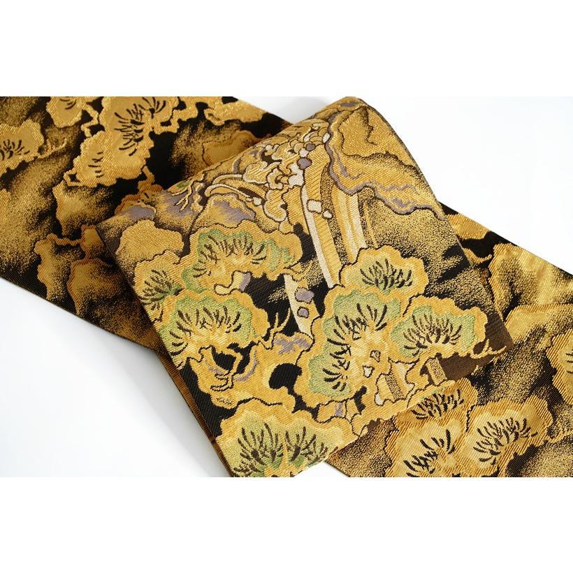 ひなや 特選創作金モール袋帯「松に滝」ゴールドフォーマル輪奈織袋帯 kimonotanaka
