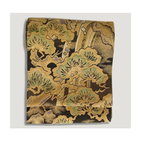ひなや 特選創作金モール袋帯「松に滝」ゴールドフォーマル輪奈織袋帯 kimonotanaka 02