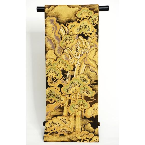 ひなや 特選創作金モール袋帯「松に滝」ゴールドフォーマル輪奈織袋帯 kimonotanaka 03