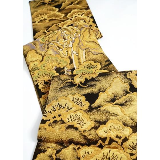 ひなや 特選創作金モール袋帯「松に滝」ゴールドフォーマル輪奈織袋帯 kimonotanaka 04
