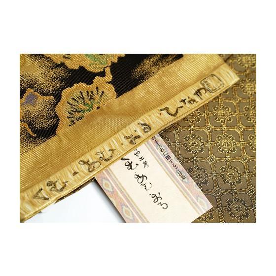 ひなや 特選創作金モール袋帯「松に滝」ゴールドフォーマル輪奈織袋帯 kimonotanaka 06