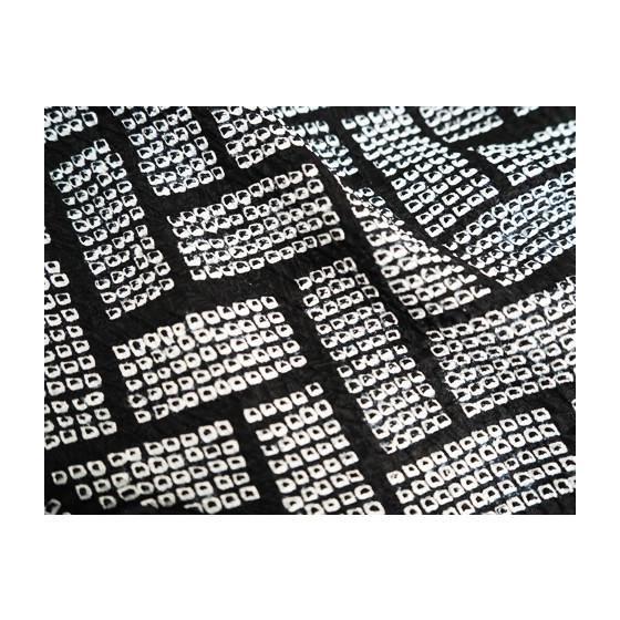 藤娘きぬたや 高級総絞り染小紋着尺「桧垣重ね文」名門絞りきもの|kimonotanaka|07