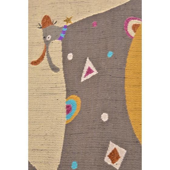 帯匠丹波屋手織り八寸名古屋帯「星の首飾り」犬柄 kimonotanaka 04