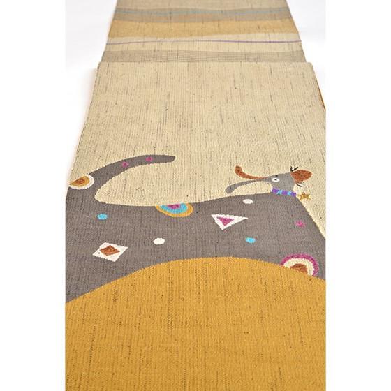 帯匠丹波屋手織り八寸名古屋帯「星の首飾り」犬柄 kimonotanaka 05