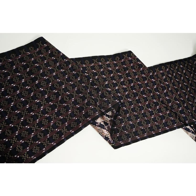 本場琉球 南風原花織紬着尺 贅沢紬 織の芸術 琉球染織美術工芸品|kimonotanaka