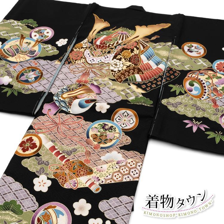お宮参り 着物 男の子 初着 産着 正絹 兜 打ち出の小槌 黒 男児 祝着 掛け着 購入 販売