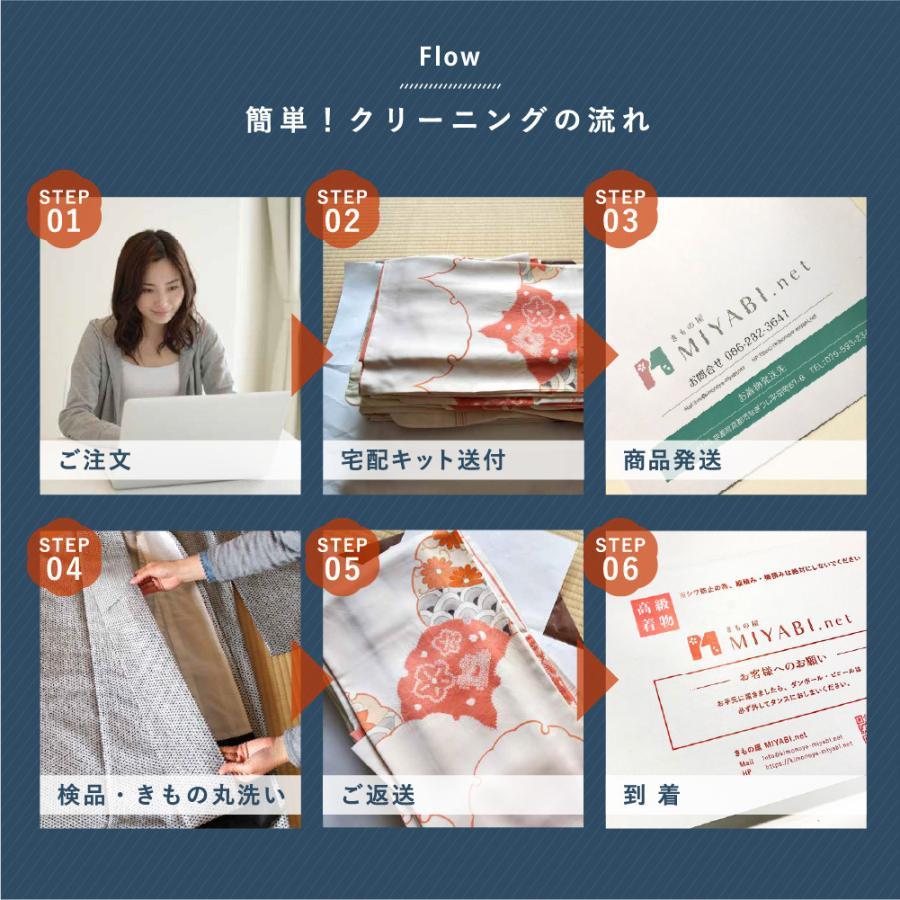 着物 クリーニング 宅配 着物3点セット(着物+帯+襦袢) みやび診断付 雅ネット kimonoya-miyabi 09