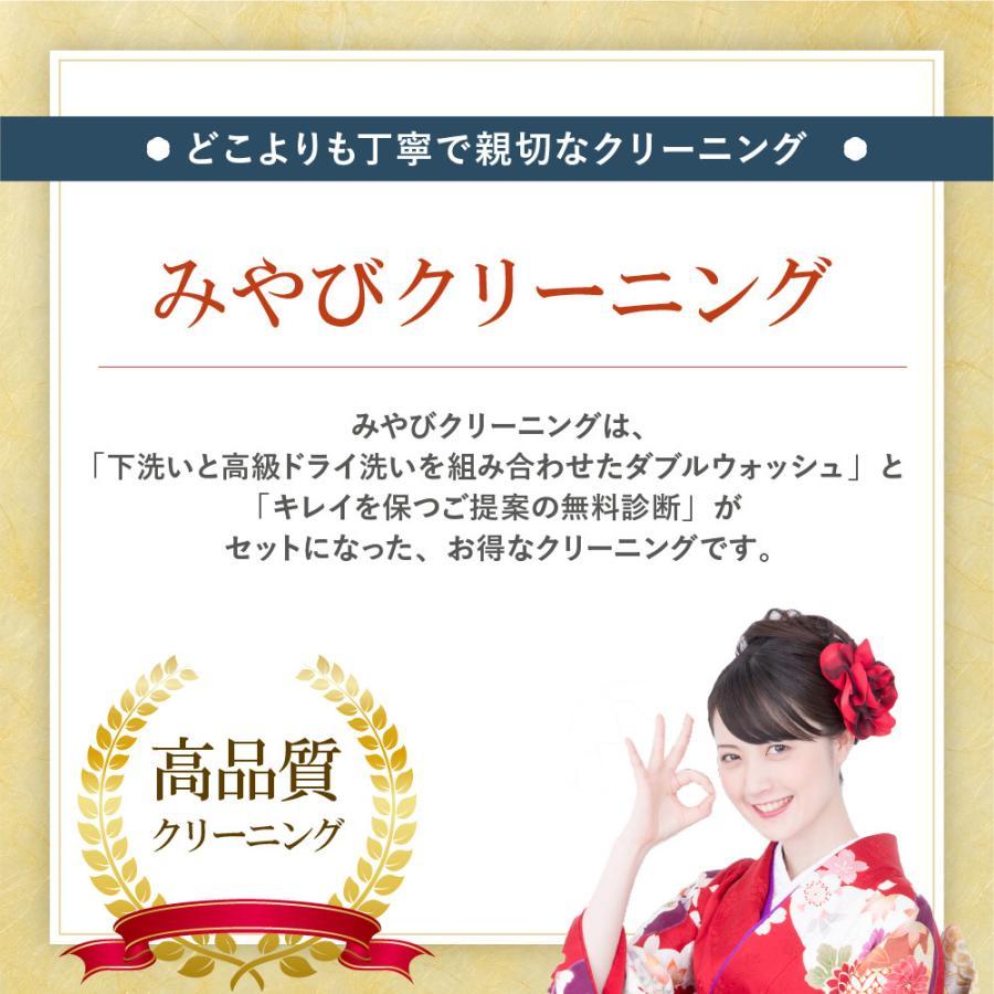 着物 クリーニング 宅配 着物2点セット(着物+帯) みやび診断付 雅ネット|kimonoya-miyabi|02