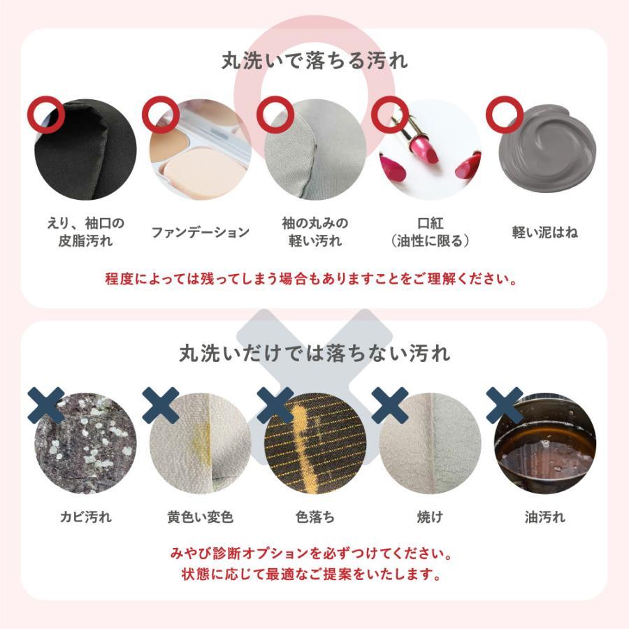 着物 クリーニング 宅配 着物2点セット(着物+帯) みやび診断付 雅ネット|kimonoya-miyabi|07