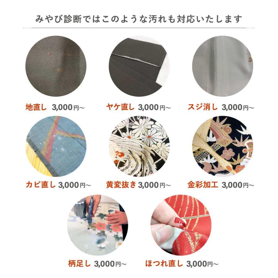 着物 クリーニング 宅配 着物2点セット(着物+帯) みやび診断付 雅ネット|kimonoya-miyabi|08
