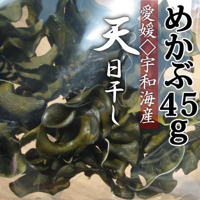 令和3年産 愛媛県宇和海産 乾燥めかぶ45g 乾燥海藻類 2020春夏新作 天日干し 肉厚で粘り気が有ります 非加熱 セール品 わかめの根本 胞子葉と呼ばれる部分