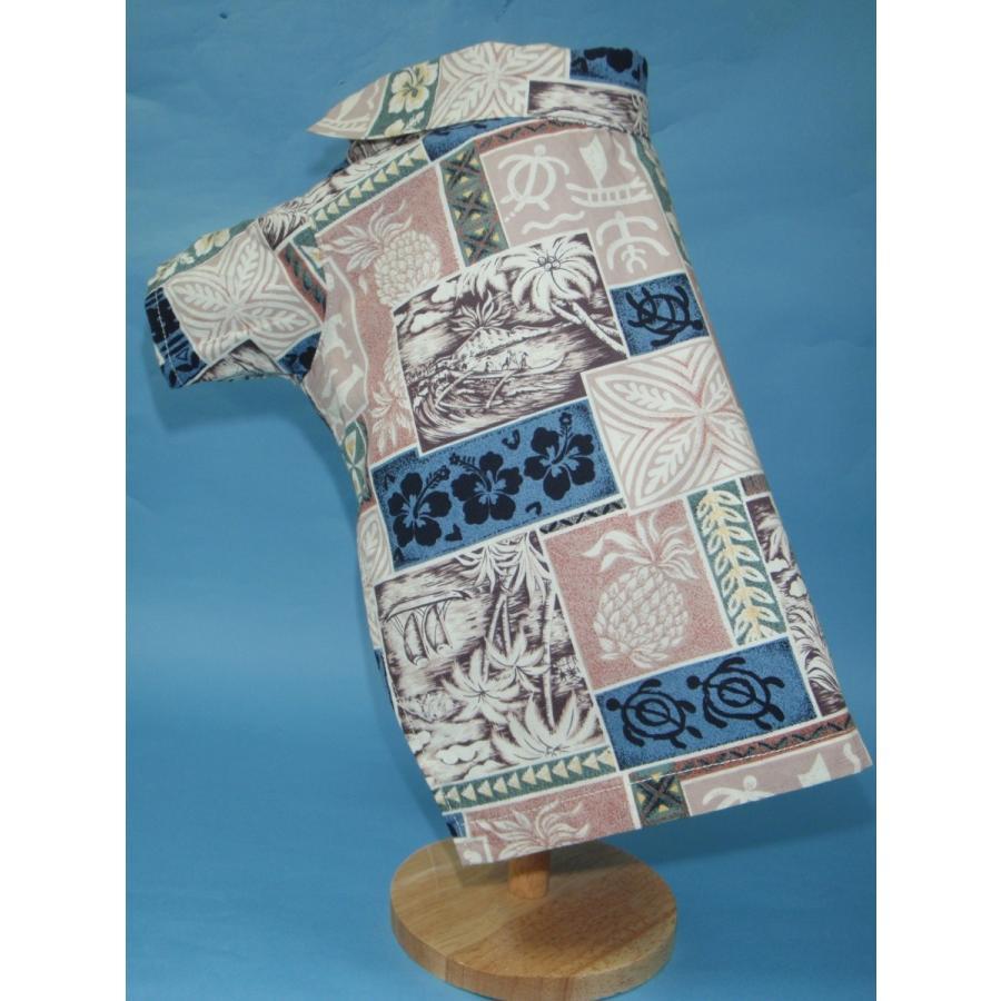 TP-15-BJ 犬服 /オリジナル / アロハシャツ / ハワイで購入した生地使用 【ハンドメイド】小型犬/チワワ・ポメラニアン kinako-mitsumame