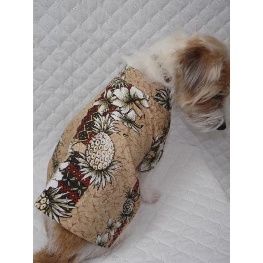 TP-04-BR 犬服 /オリジナル / アロハシャツ / ハワイで購入した生地使用 【ハンドメイド】小型犬/ヨーキー・ミニチュアダックス・ミニチュアピンシャー|kinako-mitsumame|03
