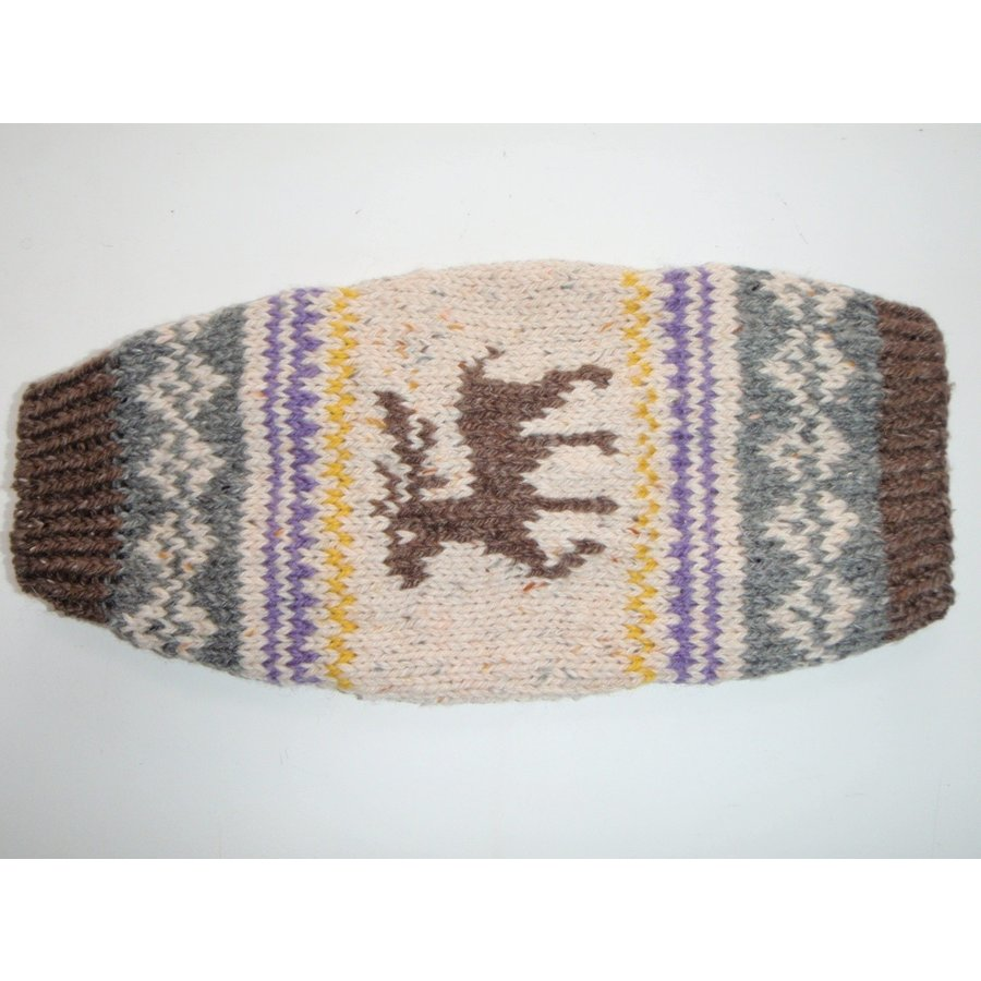 32-U-2 犬服 / オリジナル・手編みセーター 【ハンドメイド】 模様編み/小型犬/ヨーキー、ミニチュアダックス、ミニチュアピンシャー|kinako-mitsumame