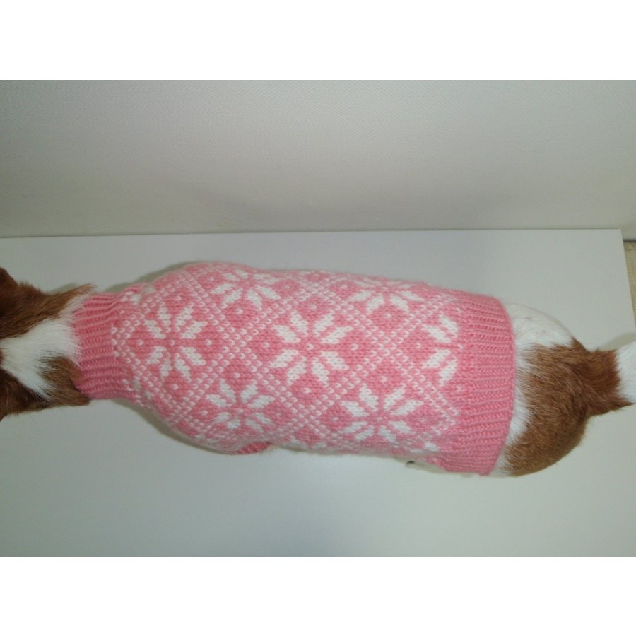 41-CE-2 犬服 / オリジナル・手編みセーター 【ハンドメイド】 模様編み/小型犬/ジャックラッセル・マルチーズ・シーズー・パグ・イタグレ|kinako-mitsumame|02