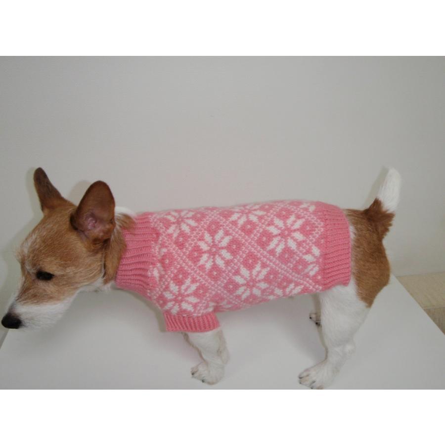 41-CE-2 犬服 / オリジナル・手編みセーター 【ハンドメイド】 模様編み/小型犬/ジャックラッセル・マルチーズ・シーズー・パグ・イタグレ|kinako-mitsumame|03