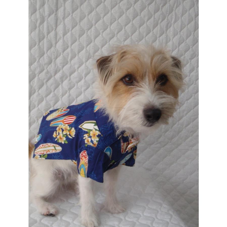 NS-07-K  犬服 /オリジナル / アロハシャツ / ハワイで購入した生地使用 【ハンドメイド】小型犬/ヨーキー・ミニチュアダックス・ミニチュアピンシャー|kinako-mitsumame|03