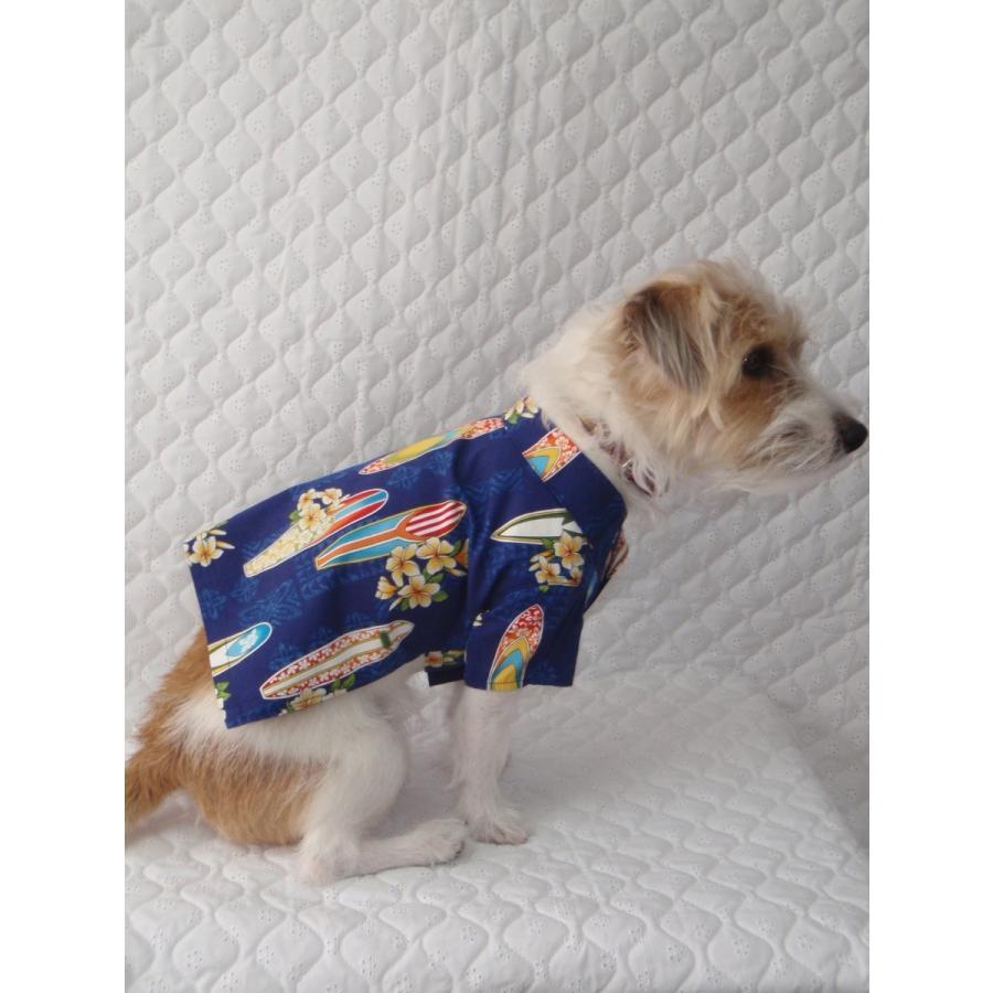NS-07-K  犬服 /オリジナル / アロハシャツ / ハワイで購入した生地使用 【ハンドメイド】小型犬/ヨーキー・ミニチュアダックス・ミニチュアピンシャー|kinako-mitsumame|04