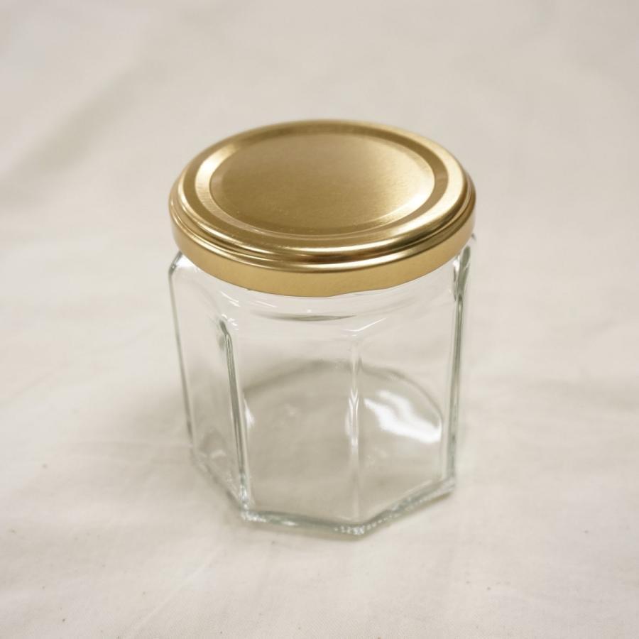 スーパーセール 専門店 ジャム瓶60 8角185ml フタ付き 10個 ガラス製 保存容器