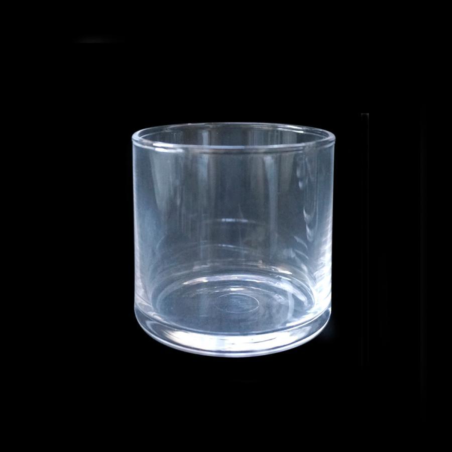 ガラス容器 未使用品 中古 キャンドル用 フィルム付きき サークルM6個セット