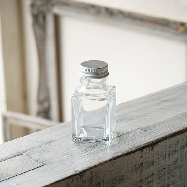 ハーバリウム瓶 2020A/W新作送料無料 スクエア 約50ml フタ付き 価格 交渉 送料無料 100個セット