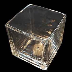 ガラス容器 キャンドル用 激安超特価 キューブタイプ 1個 メーカー直売 スクエアL フィルム付き