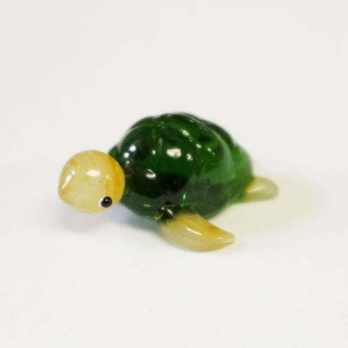 大好評です 定価 ガラス細工 海亀 ミニチュアサイズ 装飾 オブジェ 置物 ジェルキャンドル材料