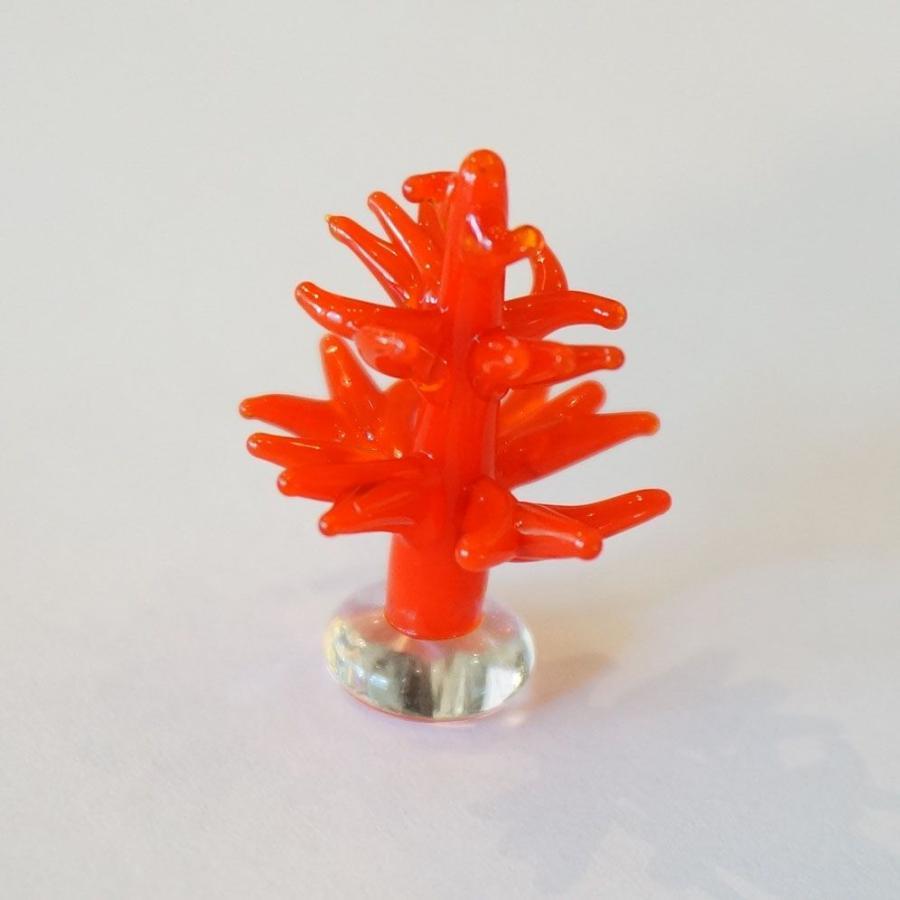 メーカー公式ショップ ガラス細工 サンゴ レッド ミニチュアサイズ ジェルキャンドル材料 オブジェ 至上 装飾 置物