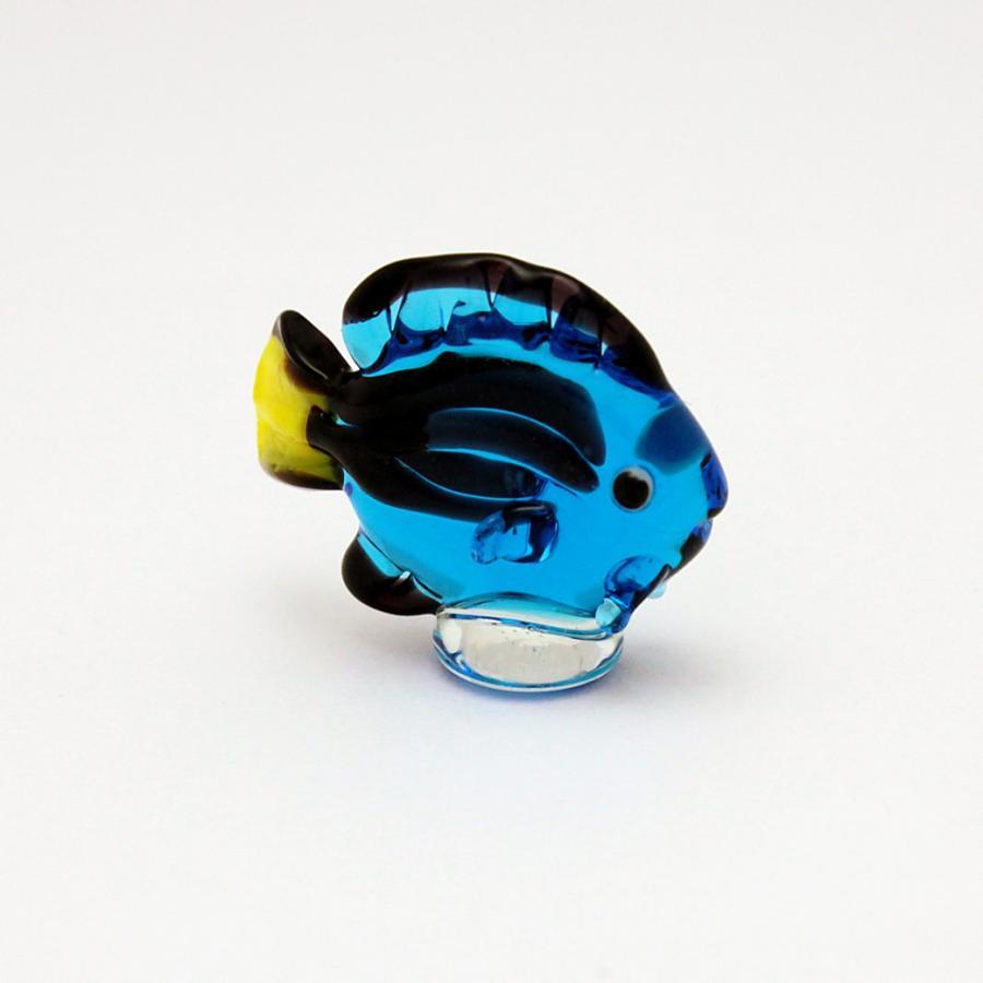 ガラス細工 ナンヨウハギ 6個セット ミニチュアサイズ オブジェ ジェルキャンドル材料 2020A 格安 価格でご提供いたします W新作送料無料 装飾 置物