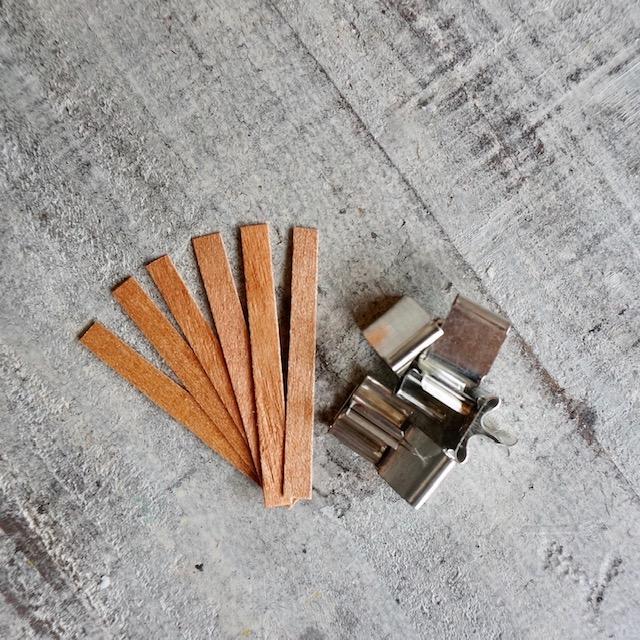 キャンドル用 日本未発売 ウッドウィック 爆買いセール 木製芯 SSサイズ シンプルタイプ 6本入り 木芯 WOOD 6mm×60mm WICK