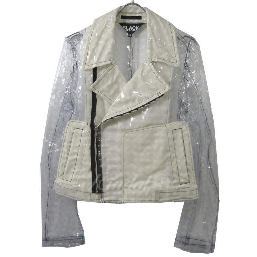 【良好品】 【2月6日値下】BLACK COMME des GARCONS PVCライダースジャケット クリア×ベージュ サイズ:S (元町店), 大橋家具店 0a591d90