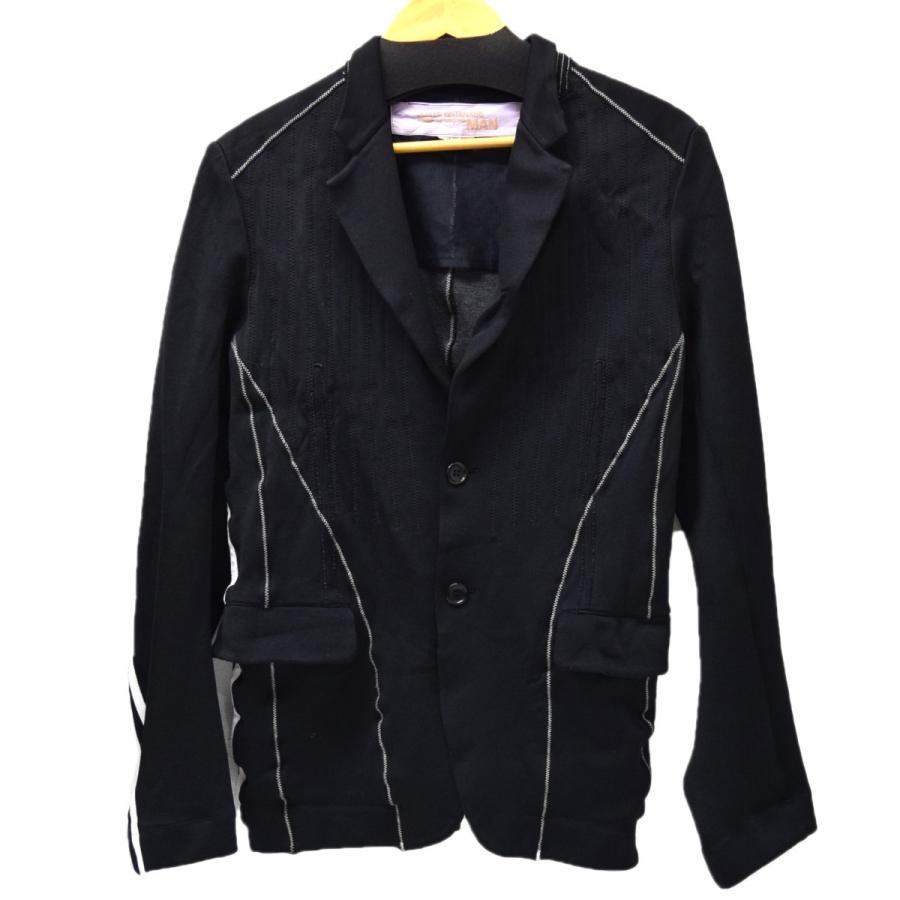 【2018?新作】 JUNYA WATANABE CdG MAN ポリ縮ステッチジャケット ブラック サイズ:SS (恵比寿店) 200119, ファッションジュエリーem(エム) 1e210ec3