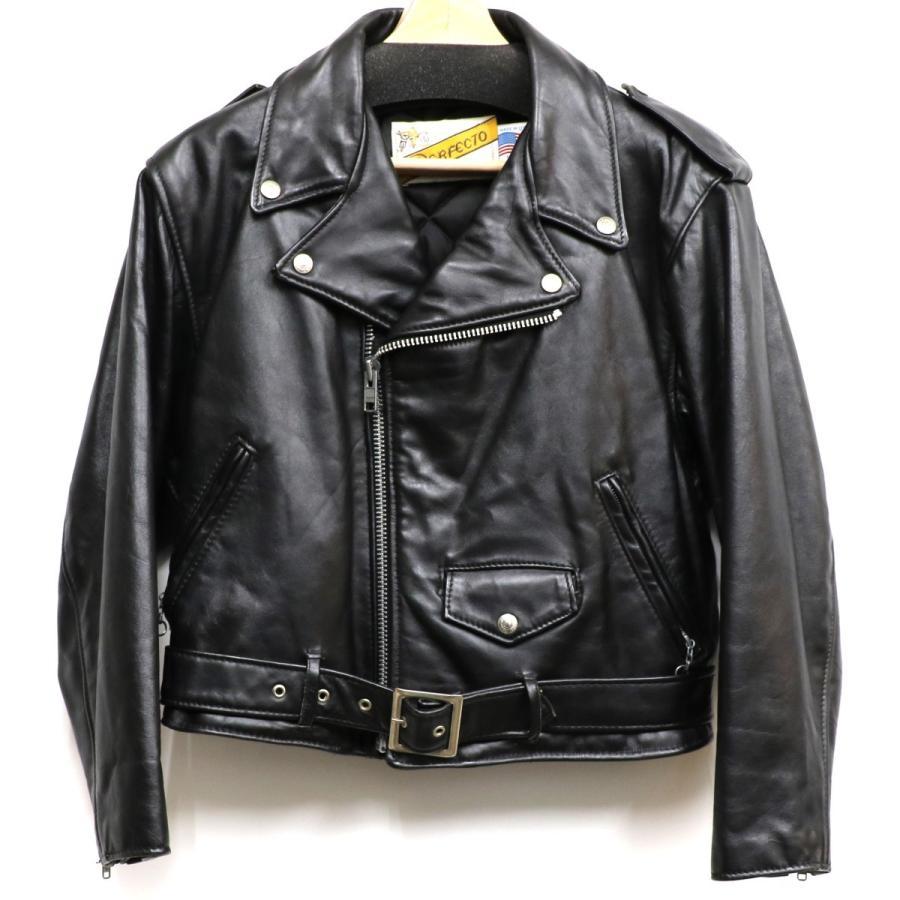 スーパーセール期間限定 SCHOTT 80-90S 108W Riders Jacketバイカータグダブルライダースジャケット ブラック サイズ:US10 (下北沢店) 20, ETFIL(エトフィル) ad349e3b