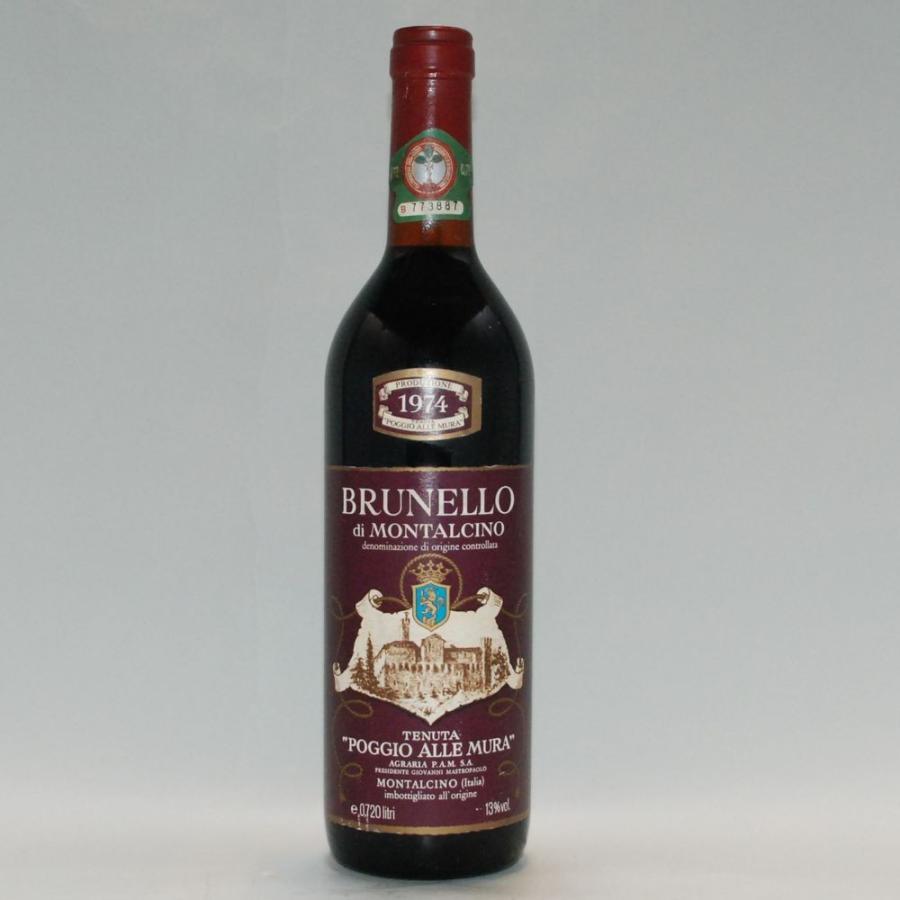 1974年 ワイン ブルネッロ・ディ・モンタルチーノ/ポッジオ・アッレ・ムーラ / イタリア / 赤 (名入れ 刻印木箱 対応商品)