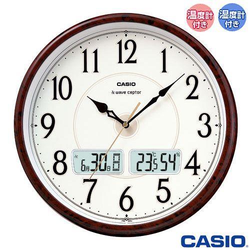 カシオ 完売 ウェーブセプター 壁掛け 電波時計 温度 引出物 200J 茶木目調 湿度計付き 2011年−2012年モデル