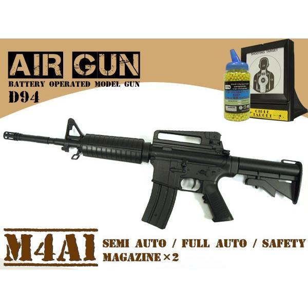電動エアガン BB弾2000発&ターゲット付き M4A1型 エアーガン サバゲー###電動ガンD94/的/弾◆###