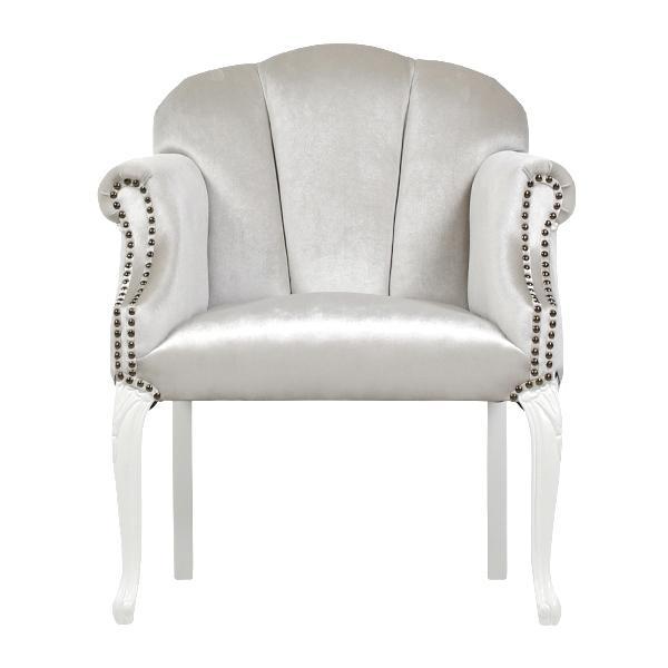 ムーンライトベルベットシェルアームチェア Shellfa(シェルファ) アンティーク調 クラシック いす 椅子 アームチェア シェル 貝殻モチーフ 6096-18F220