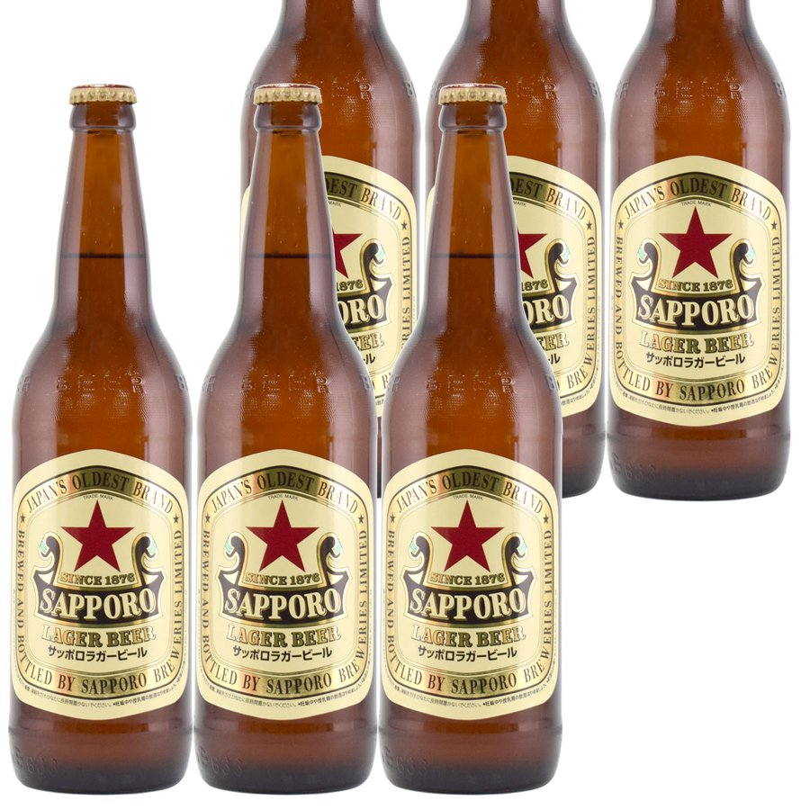 サッポロラガー 大瓶 633ml瓶×6 ギフトボックス入り 赤星|kinko-wine|02
