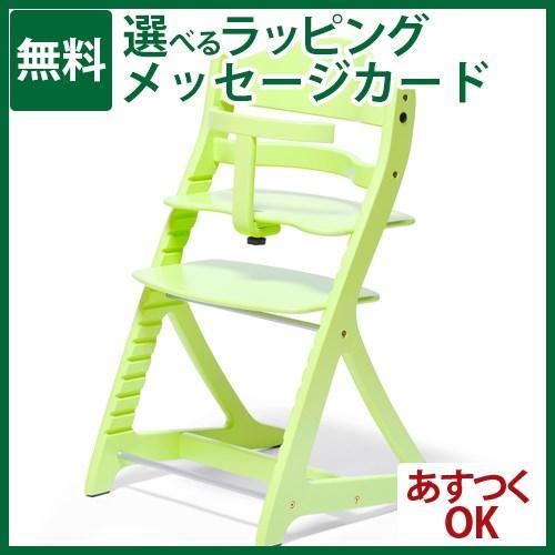 ハイチェア ハイチェア ベビー大和屋 すくすくチェア プラス ガード付 グリーン 1004GR 子供家具-S