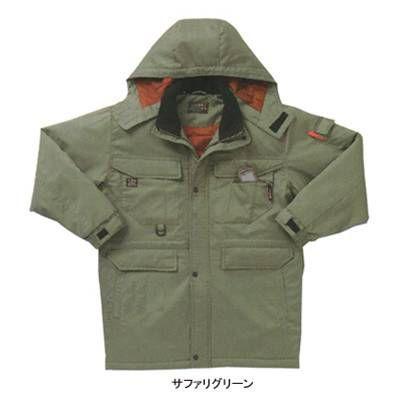 作業服 作業着 サンエス AG30431 防寒コート 4L・サファリグリーン37 4L・サファリグリーン37 4L・サファリグリーン37 f5e