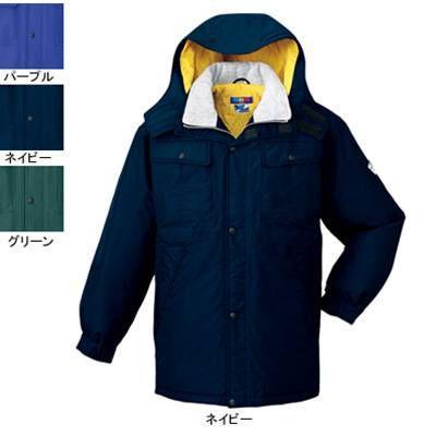 作業服 作業着 秋冬用 防寒着 防寒服 自重堂 28063 防水防寒コート(フード付) XL・ネイビー011