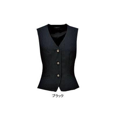 ピエ V9420-99 ベスト(3ツボタン) 7号・ブラック