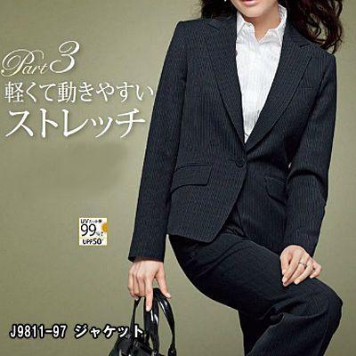 オフィスウェア 事務服 制服 ピエ J9811 ジャケット 5号〜15号
