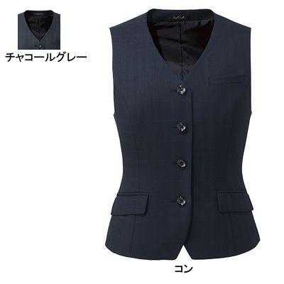 【事務服・制服・オフィスウェア】 ピエ V8120 ベスト 21号