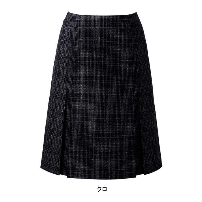 【事務服・制服・オフィスウェア】 ピエ S8111 デザインプリーツスカート(53cm丈) 23号