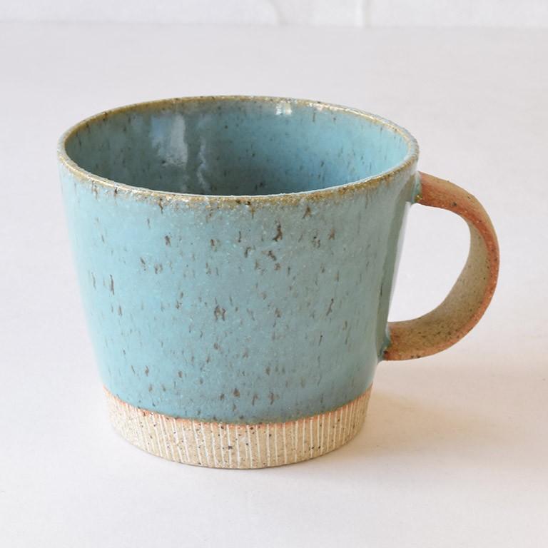 マグカップ デカマグ削り ターコイズ 陶器 大きいマグカップ 350cc 食器 おしゃれ 和カフェ おうち カフェ 美濃焼 日本製|kintouen|02