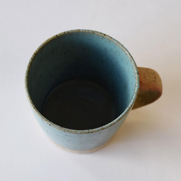 マグカップ デカマグ削り ターコイズ 陶器 大きいマグカップ 350cc 食器 おしゃれ 和カフェ おうち カフェ 美濃焼 日本製|kintouen|05