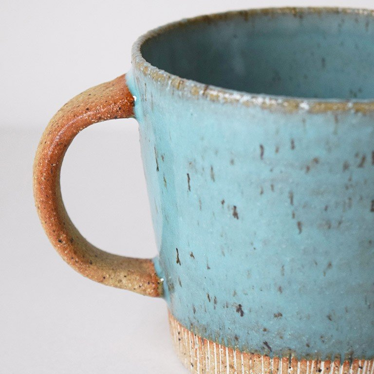 マグカップ デカマグ削り ターコイズ 陶器 大きいマグカップ 350cc 食器 おしゃれ 和カフェ おうち カフェ 美濃焼 日本製|kintouen|06